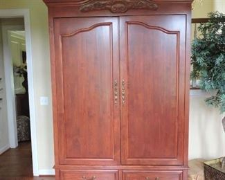 Armoire  fitted for entertainment over sized  8 foot high, 58inches wide by 29 inches deep