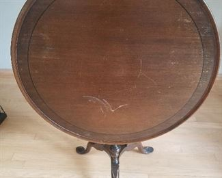 Game table 30 in diameter $60. Folds down