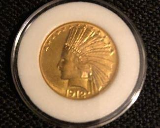 1912 $10 Gold Coin