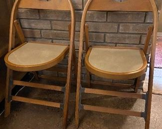 Mid-century folding chairs.