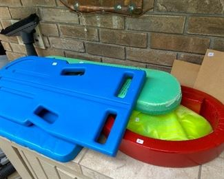 Pool toys and aquatic fitness equipment.
