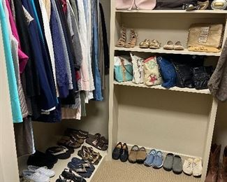 Ladies' closet full of name brand clothing---Chico's!  All sizes. Shoes and purses.
