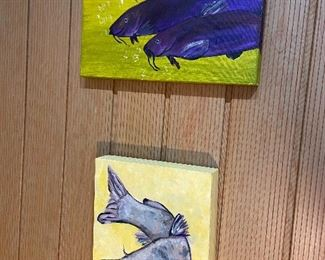 Original fish acrylic paintings by Susie Henley.