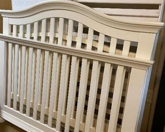 Crib converts to toddler bed, converts to Full Size.