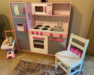 Kid's play kitchen!  Kid's chair.