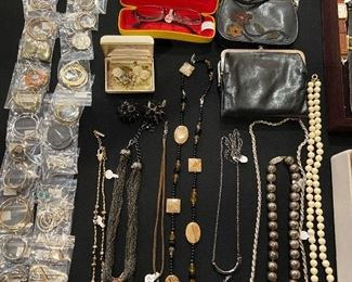 Costume jewelry, and accessories.