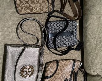 Coach bags and Tory Burch.
