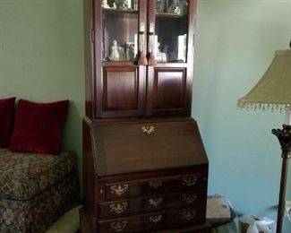 Gorgeous Ethan Allen secretary with beveled glass