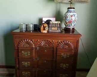 Beautiful carved solid wood chest