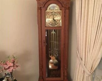 Stunning Emperor Grandfather Clock, keeps great time!