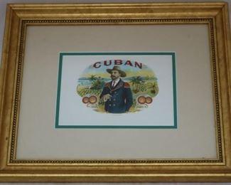 Lot# 1 - Framed Cigar Advertisement