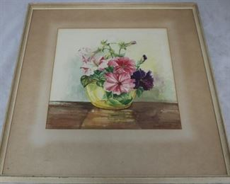 Lot# 10 - Signed watercolor