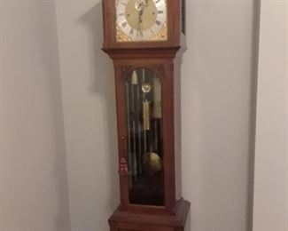 Beautiful grandfather clock, made in England and purchased there by owner when residing there with his company.