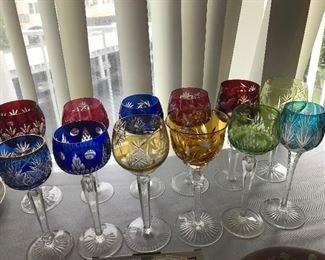 GENUINE BAVARIAN COLOR GLASS STEMS