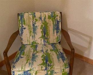 Mid Century walnut chair