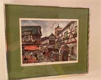 Vintage German signed print