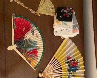 Vintage collection of fans