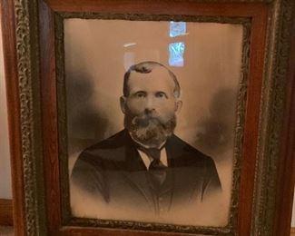 Antique framed photos