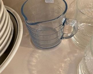 Blue Fire King measuring cup
