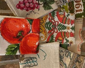 Vintage linen dish towels