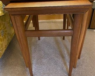 Mid Century Walnut nesting tables