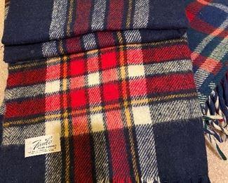 Vintage wool car blankets