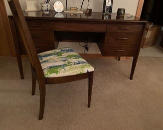 Mid Century walnut desk. Mint condition