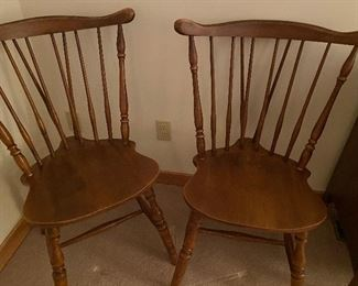 3 Maple Windsor chairs