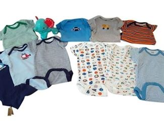 3. 69 Months Babies 10 pc. Gerber Onesie Set with Fisher Price Elephant