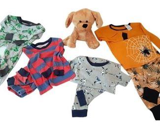 5. 2T Set of 4 Pajamas Plush Puppy