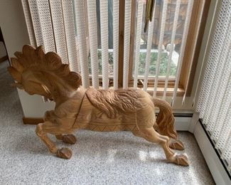 Commissioned hand carved horse from Mexico