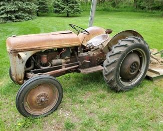 001 1948 8N Ford Tractor and Implements