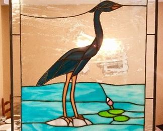 Stain Glass Heron