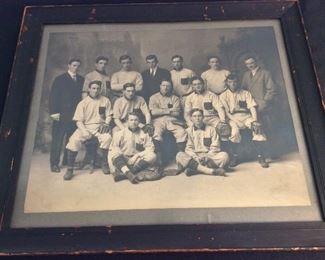 Antique Boston College Baseball Team Photograph. Embossed E. (Elmer) Chickering (1857-1915), Boston, circa late 1890's.