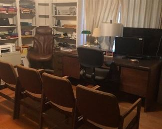 mid century office -chairs- desk - files- STUFF