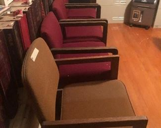 have 2 different sets of mid century    chairs-
