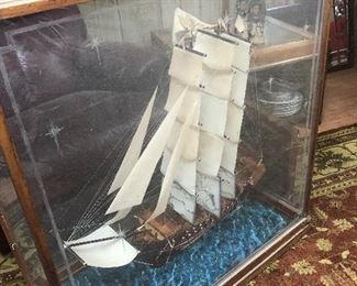 about 2.5-tall in case detailed wooden ship
