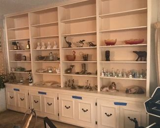 just some of this packed homes smalls -collection of bells -  native american figurines , depression glass, brass items -pottery -mexican art -