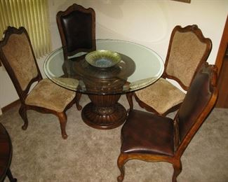 Beautiful Mahogany Table and chairs - Carved from Italy