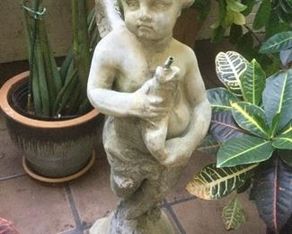 Vintage angel fountain statue