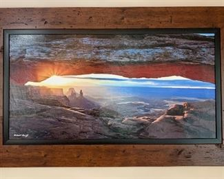 Robert Gertz Canyon Arch Art Photography Framed Picture PrimoVision	29.5x48.5x1in	HxWxD	AH109