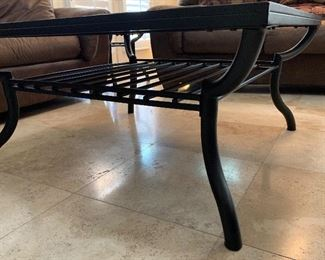 Iron & Slate Tile Rustic Coffee Table	19x40x40	HxWxD	AH112