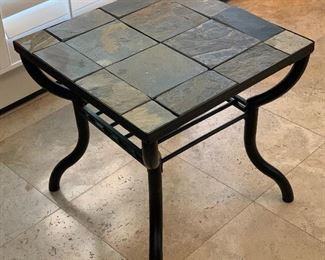 Iron & Slate Tile Rustic Side Table	23.5x24x24in	HxWxD	AH113