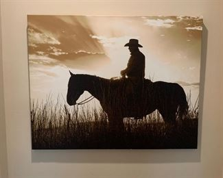 Wendy Caro Cowboy/Sunset Days End Art Print	30x38x1in	HxWxD	AH135