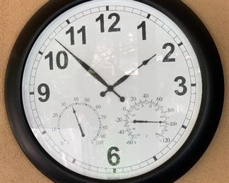 24in Outdoor/Patio Wall Clock Temp Gauge	24in Dia		AH134