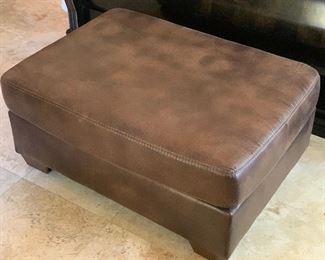 Ashley Furniture Faux Leather Ottoman	18x42x31in	HxWxD	AH137
