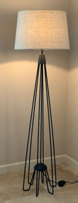 Iron Rod Floor Lamp	67in H x 17in Diameter (at top)		AH141