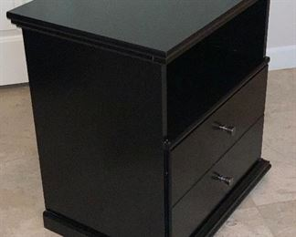 1pc Ashley Furniture Maribel Black Nightstand	24x23x16.5in	HxWxD	AH167