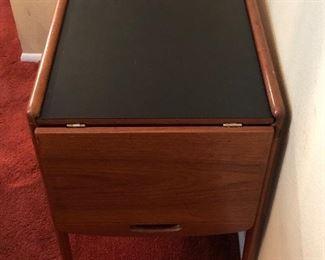 Vintage mid century modern teak wood Tea Cart $650