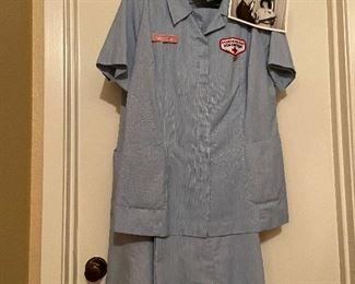 Red Cross Volunteer pant outfit.... includes hat, pins, pen holder, and picture. $150